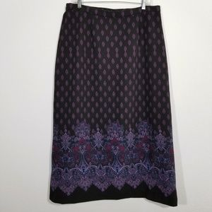 NOTATIONS Womens Multi-color Long Skirt